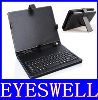 Wholesale inch tablet pc keyboard leather case Micro USB OR USB with Stylus Pen