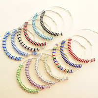 Mixed colors available big hoop earrings - 80mm pair Mix Colors Paparazzi Basketball Wives Hoops Earring Big Circle Earrings