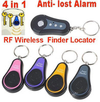 Wholesale 4 In Anti lost Alarm RF Wireless elec Finder Locator Key Chain transmitters Receivers