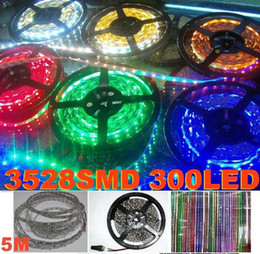 Hot Mix Color LED Flexible Strip 3528 SMD led Strip Light non Waterproof 5M 60LED M DC 12V 300 LEDS