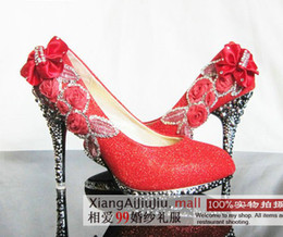 Wholesale Love the new bride wedding shoes noble diamond shoes multicolor bride preferred CM