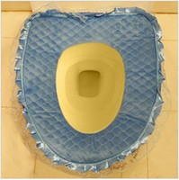 Eco Friendly toilet seat - Comfortable and warm cotton velvet colorful lace toilet seat U shaped closestool mat