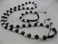 Wholesale Shamballa Bracelets Necklaces Jewelry Sets MM Crystal Clay Beads Disco Ball Necklace Bracelet
