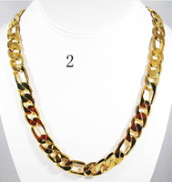 Wholesale gorgeous jewelry mens fine k yellow gold filled necklace heavy chain party jewelry