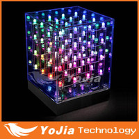 Wholesale LED Moving Art Pattern Cube lights lamp blinking D LED CUBE x4x4