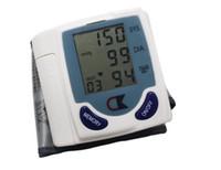 Wholesale Portable Home Digital Wrist Blood Pressure Monitor Heart Beat Meter LCD Display