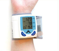 Wholesale Digital Wrist Blood Pressure Monitor Heart Beat Meter LCD Display