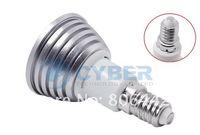 Wholesale Cheap brand new W E14 RGB Remote Control LED Bulb Lamp Color Spot LIGHT