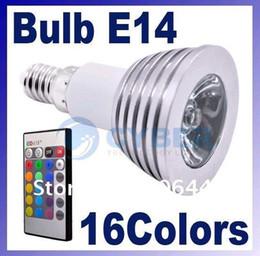 High quality Free shipping 3W E14 E27 MR16 GU10 RGB Remote Control LED Bulb Lamp 16 Color Spot LIGHT
