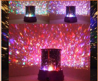 Wholesale 2pcs Amazing Flashing Colorful LED Star Master Star Sky light Projector Lamp Night light Lamp