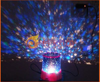 Wholesale Amazing Flashing Colorful LED Star Master Star Sky light Projector Lamp Night light Lamp free shippi