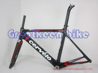 Wholesale 2011 Cervelo S3 aero black red Full Carbon Road Frame fork seatpost headsets clamp road bicycle frame