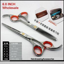 Wholesale hairdressing scissors Hair Scissors Professional Scissors Barber scissors INCH Hairdressing scissors SET NEW