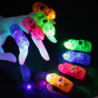 Wholesale Mix Led Party Laser Finger Light Beam Torch Ringb Led Bright Finger Ring Lights Beam Torch LED toy