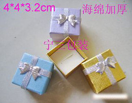 Wholesale Pearl light ring box jewelry boxs jewellery jewelrys gift boxs the jewelry for rings colors mixed