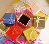 Wholesale Ring box jewelry boxs jewellery cheap jewelry boxs the jewelry boxs for rings cm colors mixed