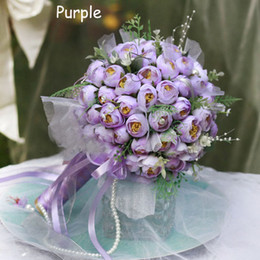 Wholesale 2012 Artificial Flowers Wedding Bouquet pieces roses Bride Bouquet Bridal Holding Flowers F41B