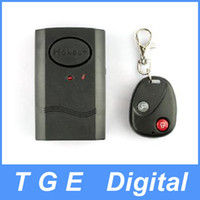 Wireless Black 90 x 55 x 25mm Wireless Remote Control Vibration Alarm for Door Window