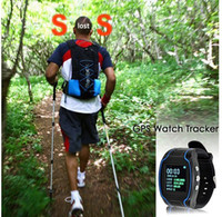 Wholesale GPS Watch Tracker GPS Wrist Watch Star Finder Quad Band SOS Cellphone SMS Message Dual band