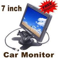 Wholesale 7 inch Car Rearview Monitor Reverse Camera Mirror Headrest DVD VCR Full color LED backlight display