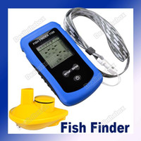Wholesale Best Portable Sonar Fishfinder Alarm Fish Finder Wireless Blue Black Yellow mm