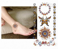 Wholesale Temporary Tattoos Fashion Butterfly Waterproof Body Tattoo Sticker mix order rose bg