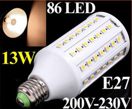 1550LM 200V-230V 13W E27 LED Lamp 86 SMD 5050 LED Corn Light LED Bulb Lamp Lighting Warm White free