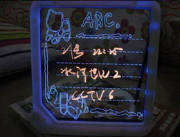 Wholesale LED Message Board Erasable Illuminated electronic display sign board writing Tablet Advertising