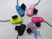 Wholesale DHL Free DPI Wired Mini USB D Optical Lazy Finger Ring Held HandHeld Mouse For Laptop PC