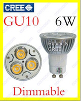 Wholesale 10pcs x GU10 x2W W CREE High power Dimmable LED Spot Light Bulb Spotlight downlight lamp W