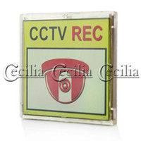 Wholesale Solar Powered Flashing CCTV Warning Sign SS110306 LCD Dimensions x67 mm