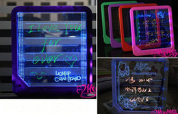 Wholesale LED Message Board Erasable Electronic Fluorescent Writing Board LED Advertising Board Whiteboards