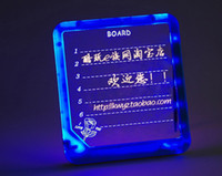 Wholesale LED Message Board Erasable Fluorescent Writing Board LED Advertising Board Whiteboards AAA