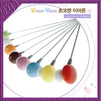 Wholesale Ear Drops candy type sweet headphone headset mm In ear earphone