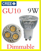Cheap 10 X GU10 CREE Dimmable 3x3W 4W 5W 6W 7W 8W 9W LED Spot Light Bulb Spotlight spot lamp 110v 220v 240