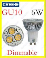Wholesale 10x GU10 x2W W CREE High power Dimmable LED Spot Light Bulb Spotlight downlight lamp VS W