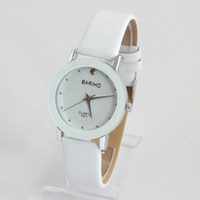 Wholesale Minimum Order BARIHO White Round Leather Strap Womens Fashion Watch N