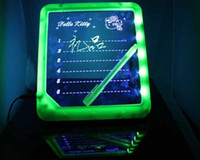Wholesale Erasable LED Message Board Fluorescent Writing Board LED Advertising Board Whiteboards W88
