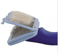 Small Easy2Clean Grooming Brush Cat Dog Fur Removal Brush fo...