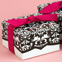 Wholesale Hot sell Damask Wedding Candy Box cake box chocolate box