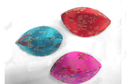 Small Jewellery Box Wholesale 50pcs pack Mix Color 2.9 * 2 inch Silk Printed Colorful Ring Cases