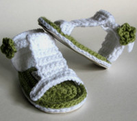Baby crochet sandals first walker shoes cute shoes 0- 12M dou...