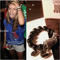 Wholesale New fashion Womens girl DIY beaded mix build metal strings of beads love pearl bracelet
