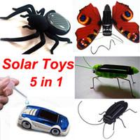 Солнечный автомобиль Таракан бабочки Кузнечик Паук 5 в 1 солнечной и соленой воды 150pcs гибридный автомобиль