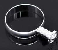 Wholesale Best selling Rings Charm Bead Fit European glass crystal Bead size with screw