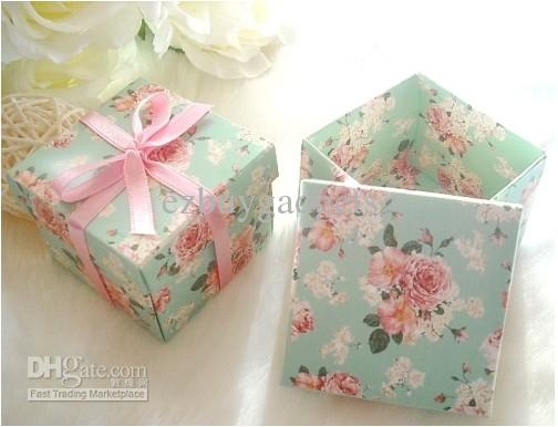 Chinese Peony Flowers Wedding Favors Candy Gift Box Favor Holders