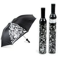 Wholesale New Bottle Umbrellas FASHION WINE BOTTLE STYLE FOLDING UMBRELLA MINI FLOWER