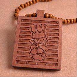 The Goodwood nyc UK Hip Hop Good wood necklace monkey pendant rosary necklace