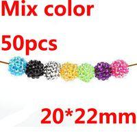 Wholesale 50pcs European Rhinestone Bulk Acrylic Resin Basketball Wives Earrings Poparazzi Charms Bead beads