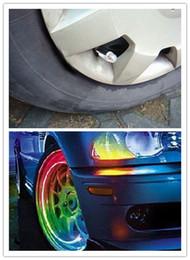 Wholesale Light Caps Tires - LED Flash Tyre Wheel Valve Cap Light for Car Bike Motorbicycle Wheel Light Tire Light wheel wholc#21